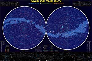 Map of the Sky Science Educational Chart Maxi Poster - 61x91 cm