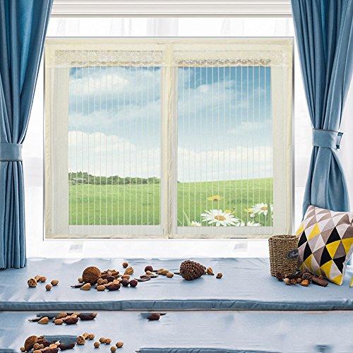 Zanzariera magnetica, tenda della maglia schermo di zanzariera tende schermo autoadesive velcro magnetico invisibile rimovibile-e 150x120cm(59x47inch)