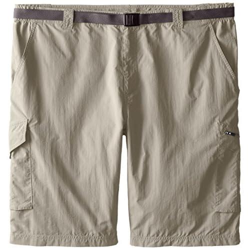 Columbia Men's Hiking Cargo Shorts, SILVER RIDGE CARGO SHORT, Nylon, Tusk, Size: 48, AS4084