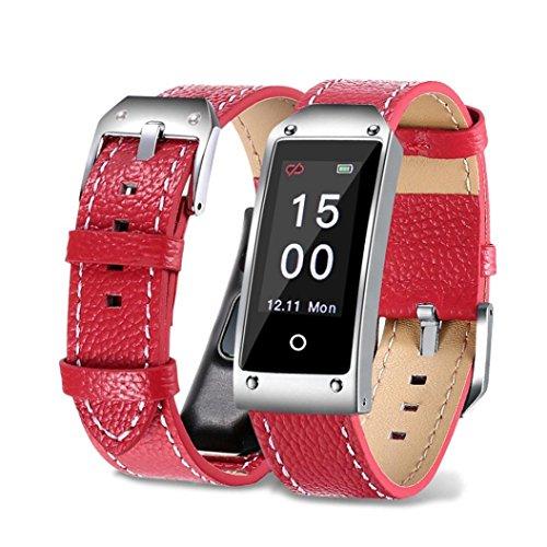 TPulling Mode Y2 Armband Blutdruck-Test, Herzfrequenz-Test Intelligente Armbanduhr Smart Watch Y2 Farbe Bildschirm Blutdruck / Herzfrequenz Armband Smart Watch Armband Sport Bluetooth Smart Armband Sportuhr (Rot) Msn Sport