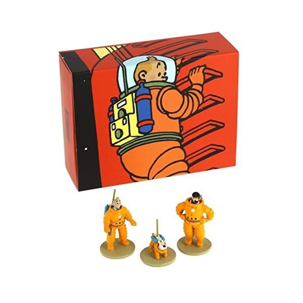Moulinsart Set de Figuras Tintín, Haddock y Milú cosmonautas 46305 (2016) 2