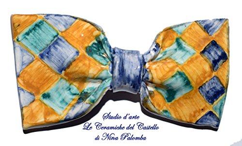 Fliege Keramik Klassischen Linie Piece Unique Hergestellt und von Hand bemalt Le Ceramiche del Castello Made in Italy Maße: 10 x 5 (Fliegenklatsche Kostüme)