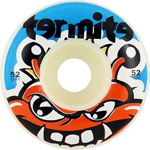 termite-skateboards-tommy-white-blue-skateboard-wheels-52mm-99a-set-of-4-by-termite-skateboards