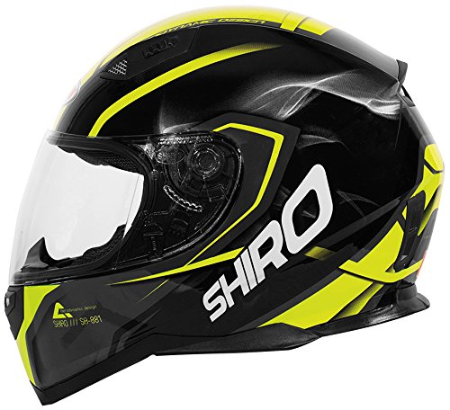 Shiro casco, Motegi, Color Amarillo, tamaño XL