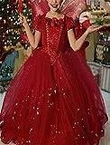 Kosplay Mädchen Prinzessin Kostüm Eiskönigin Kleid für Mädchen Schmetterling Karneval Verkleidung Party Cosplay Faschingskostüm Festkleid Weinachten Halloween Fest Kleid, Rot, Gr. 110 Vergleich