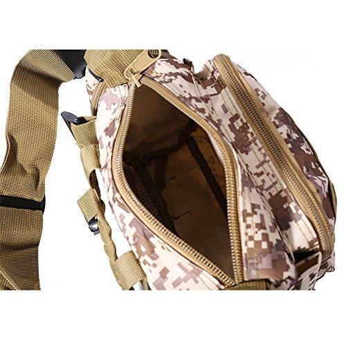 WILLIAM&KATE Multifunktions-Unisex-Taschen Outdoor Taktische Schulter Taille Packs Reisen Sport Camping Wandern Trekking Rucksack Wüsten-Digital