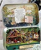 XuBa Lustige Landschaftsnoten 3D Holz DIY Handgemachte Box Theater Puppenhaus Miniatur Box niedliche Mini Puppenhaus Zusammenbau Kits Geschenk Spielzeug Mehrfarbig