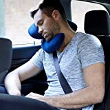 J-pillow Travel Pillow - Head, Chin and Neck Support - British Invention of the Year - Navy Bild 4