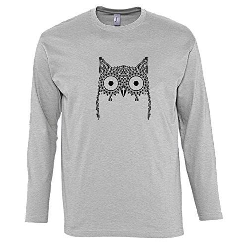 hommes-t-shirts-manches-longues-avec-owl-bird-big-eyes-geometric-imprime-col-ras-du-cou-medium-gris