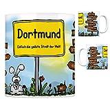 Dortmund - Einfach die geilste Stadt der Welt Kaffeebecher Tasse Kaffeetasse Becher mug Teetasse Büro Stadt-Tasse Städte-Kaffeetasse Lokalpatriotismus Spruch kw Barop Köln Schnee Witten Bittermark
