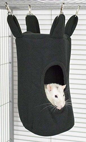 Rodents Residence Zylinder Kuschelhängematte (Schwarz) Kleintier Höhle Haus Häuschen Ratte Chinchilla Frettchen Hamster Degu Frettchen