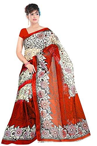 Shushila saree Women\'s jaipuri kota super net saree (dc_07_red_Coloured_Freesize)