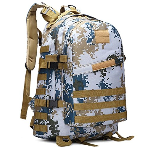 ZC&J Outdoors 36-55L Capacity Camouflage Männer Schulter Rucksack, Tactical Sport Trekking Bergsteigen Rucksack, wasserdicht Oxford Tuch verstellbare Bergsteigen Tasche B2