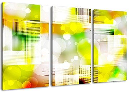 Seifenblasen Format: Dreiteiler Gesamt 120x80, Bild auf Leinwand bespannt, riesige XXL Bilder komplett und fertig gerahmt mit Keilrahmen, Kunstdruck auf Wand Bild mit Rahmen, günstiger als Gemälde oder Bild, kein Poster oder Plakat