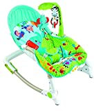 #10: Baybee Premium Quality Newborn-to-Toddler Portable Rocker Cum Bouncer With Soothing Vibration & Musical Toy (Green & Blue )