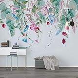 Papier peint fleuri 3D, rouleau de papier peint stéréo pour le décor mural de salon décoré de papiers peints photo, peintures murales florales 280 cm (l) x 180 cm (H)