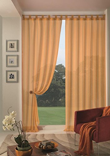 Home collection boucle tenda, poliestere, giallo, 140x290 cm