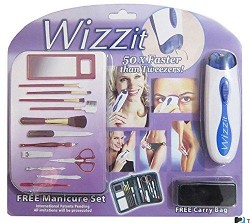Removedor de pelo electrico cara/cuerpo WIZZIT-MUJER con set de manicu