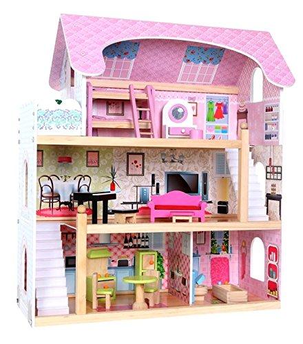 Puppenhaus FAIRY TALE, Puppenhaus, Puppen Set, Holzspielzeug, Holzmöbel, Spielzeug Kinderzimmer