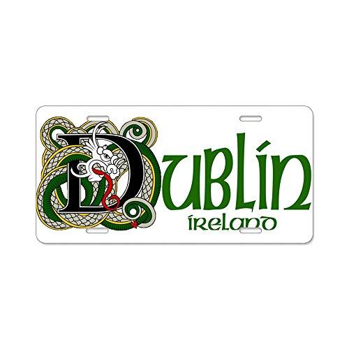 CafePress–Dublin–Aluminium Nummernschild, vorne Nummernschild, Vanity Tag (Usa Kennzeichen License Plate Frame)
