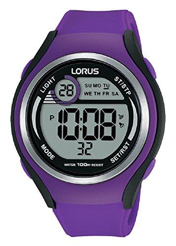 Lorus Unisex-Adult Digital Watch with Silicone Strap R2385LX9