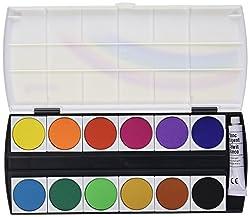 GeHa 724021 Deckfarbkasten mit 12 Farben und 1 Tube Deckweiss von Pelikan