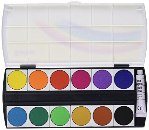 GEHA 721217 Deckfarbkasten mit 12 Farben und Deckweiss, 1 Stück