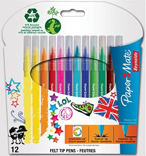Papermate 12 feutres dessin pointe moyenne parfumes pulpi's