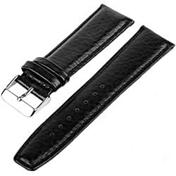 Marchel WB10 Leather Watch Band Black 20 mm Watch band watch bracelet Grained