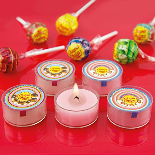 Preisvergleich Produktbild Duftende Teelichter Chupa Chups im 5er Set - Chupa Chups Lutscher Rechaudkerze Chupa Chups