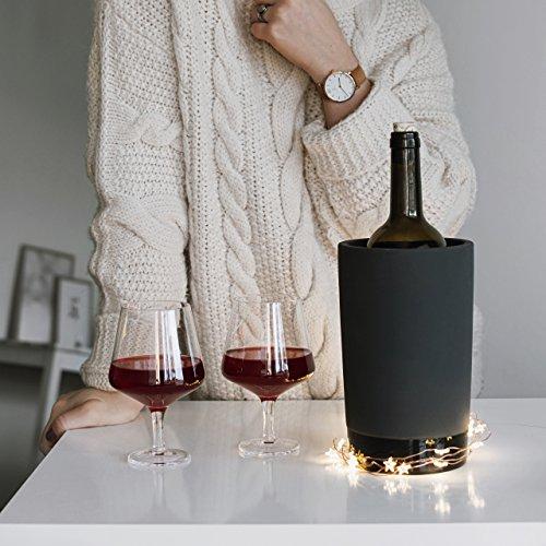 Magisso 70604 Flaschen- und Weinkühler in Keramik, hält das Getränk 4-6 Stunden natürlich abgekühlt durch Verdunstung, 12,7 x 12,7 x 20,9 cm - 9