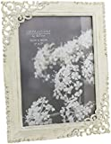 Vintage Style Ornate Cream Metal Photo Frame New Boxed 5 x 7 by ukgiftstoreonline