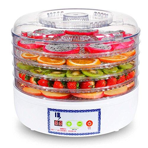 XY-QXZB Digitaler Trockner Dehydrator 5 Tier Obst Dörrgerät mit einstellbarer Temperaturregelung und Timer
