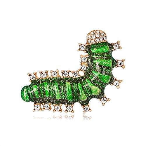 Defect Brosche-europäische und amerikanische populäre Insekt Brosche niedliche Raupe Kostüm gepaart mit Nadel Brosche 2-teiliges - Niedliche Raupe Kostüm