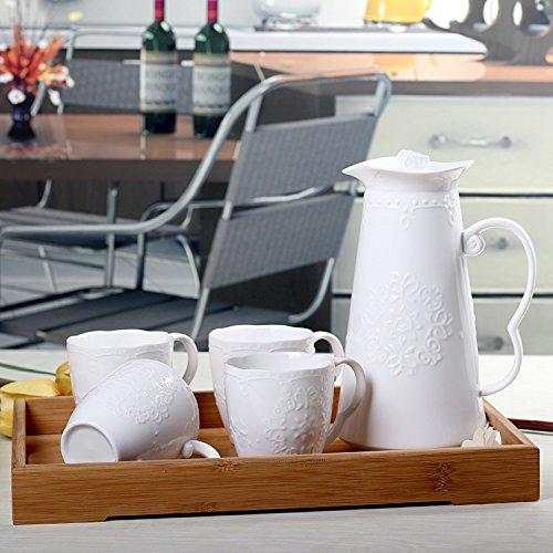 FAN4ZAMEHome Keramik Kaffeetasse Setafternoon Cup Sets Von Combinationsceramic Topf Mit Kaltem Wasser Und Großen Kanne Saft Topf Hochtemperatur Wasser Tee Ein (Kaffee Topf Kostüm)