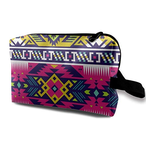 etiktaschen Aztec Abstract Art Print Multi-Functional Toiletry Makeup Organizer makeup bag ()