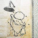 EdmendYang Dusche Glastür Aufkleber Kinder Baden Wandaufkleber Nette Wasserdichte Abnehmbare für Baby Badezimmer Dekor Aufkleber Wandkunst Aufkleber