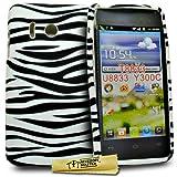 Accessory Master -Cover in Silicone per Huawei Ascend Y300 T8833, con Motivo zebrato, Colore: Viola
