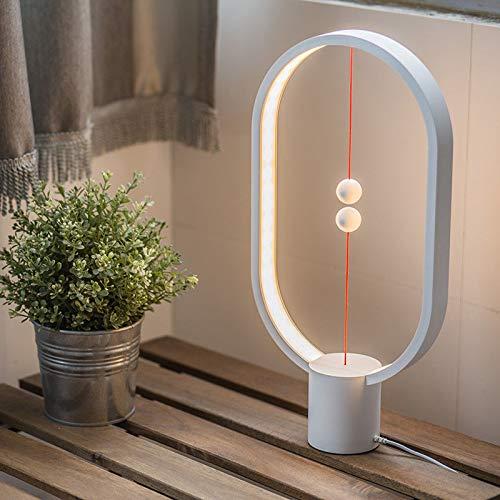 Heng Balance Lampe Magnétique Lampe D'Équilibre LED Night Light Décor À La Maison Chambre Bureau Café-Bar, Lampe à Del Warm Eye-Care (blanc)