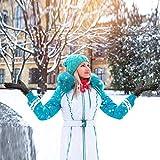 Opard Touchscreen Handschuhe Damen Winter Dicke Warme Handschuhe Kaschmir Drinnen Draußen Radfahrenhandschuhe, Motorradfahrenhandschuhe, Mountainbikehandschuhe (Grau)