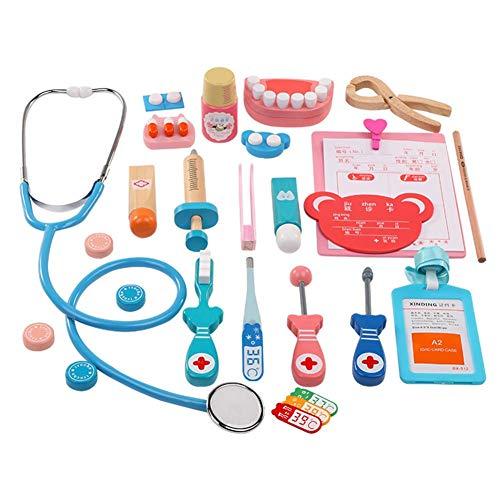 Luerme Ärzte-Kit für Kinder, 20 Stück aus Holz Arzt Rollen Spiel Spielzeug Zahnarzt Arzt Spielset für Kleinkinder, Kinder, Schule Klassenzimmer und Arzt Rollenspiel ()
