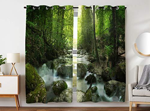 YISUMEI - Gardinen Blickdichter - Indisches Motiv,245 x 140 cm 2er Set Vorhang Verdunkelung mit Ösen für Schlafzimmer Wohnzimmer