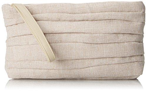 la-regale-large-rushed-linen-wristlet-evening-bag-sand-one-size