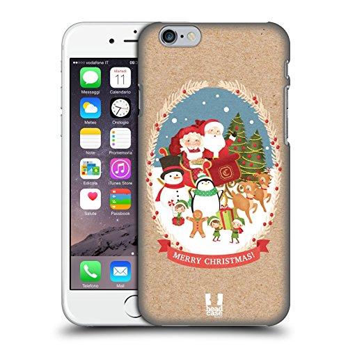 Head Case Designs Sacco Classici Del Natale 2 Cover Retro Rigida per Apple iPhone 3G / 3GS Gruppo
