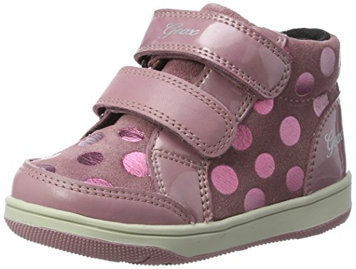 Geox B New Flick F, Sneakers Basses Bébé Fille Rose (Dk Pink)
