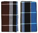 #1: HTC Men's Cotton Lungi- Pack of 2 (Multi-Coloured)