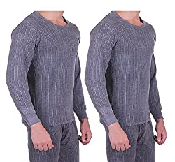Zimfit Mens Winter Wear Full Sleeves Ultra Thermal (Upper) (85) (Pack of 2)