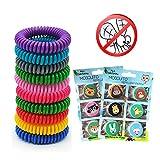 Mückenschutzmittel Armband-Insektenbänder für Kinder Erwachsene 10 Pack Alle Naturdeet-freien und...
