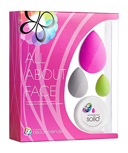 Beautyblender all. about. Face (Original Beautyblender, Beautyblusher, micro mini Beautyblender e Beautycleanser solido)