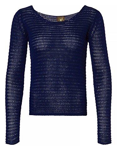 TRUSSARDI Donne Pullover in maglia blu scuro 42